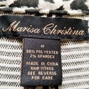 Marisa Christina Skirts - Leopard-print, a-line, paneled skirt